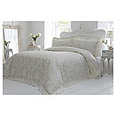 Elegant Living ornate damask jacquard duvet soft gold double