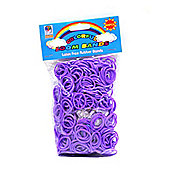 Loom Bandz - Rainbow Colours - Purple 600 Count With Clips