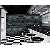 1Wall Giant Slate Brick Effect Wall Mural