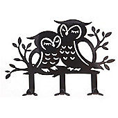 Owl - Metal Jewellery Stand / Ornament - Black