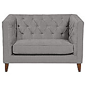 Chartwell Loveseat Textured Weave Silver