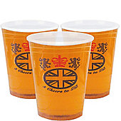 Pint Plastic Glasses, Pack of 10
