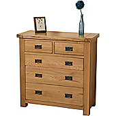 Cottage Solid Oak 2+3 Chest of Drawers