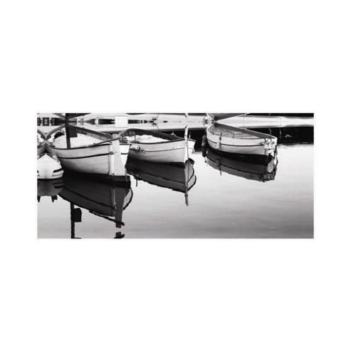 Pharmore Ltd Boats in Harbour Wall Art - 60cm x 90cm