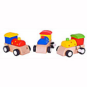 Bigjigs Toys BJ976 Clockwork Train (One Supplied - Colours Vary)