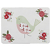 Floral Bird Placemats,  4 Pack