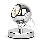 Retro Style Spot Light Table Lamp in Chrome