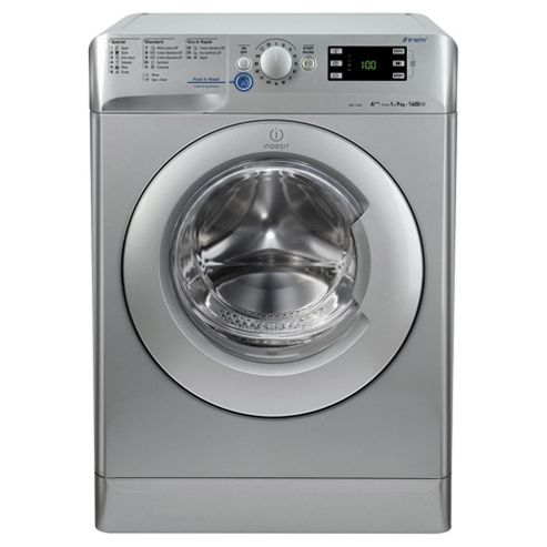 Indesit XWE91483XS Innex, Freestanding  Washing Machine, 9Kg Wash Load, 1400 RPM Spin, A+++ Energy Rating, Silver