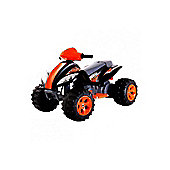 6V Quad Bike Style Ride On Car Black and Orange