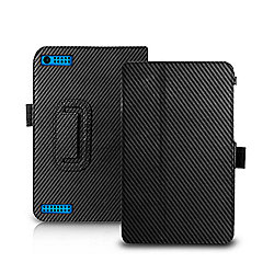"Orzly ""Stand & Type"" Case, Compatible with the Tesco Hudl 2 - Carbon Fibre Black"