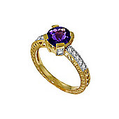 QP Jewellers Diamond & Amethyst Fantasy Ring in 14K Gold