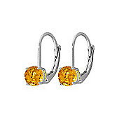 QP Jewellers 1.20ct Citrine Leverback Earrings in Sterling Silver