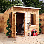 8ft x 6ft Tongue & Groove Curved Roof Shed