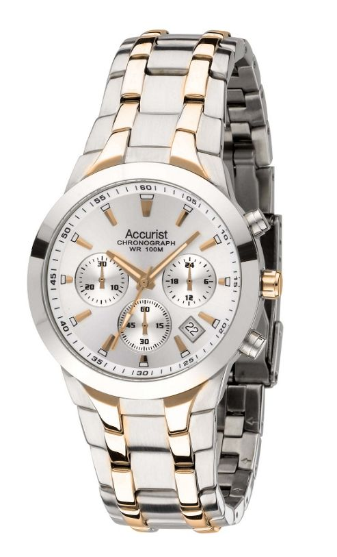 Accurist Mens Stainless Steel Chronograph Date Watch MB1059S