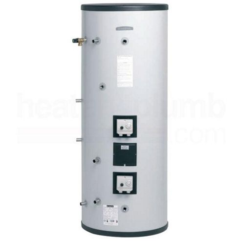 Ariston Aquabravo ITSI Unvented INDIRECT Twin Coil Stainless Steel Hot Water Cylinder with Control Kit - 255 LITRE