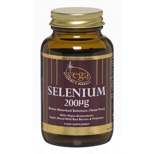 Vega Selenium 200mcg yeast free 30 Veg Capsules
