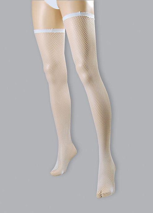 Fishnet Stockings. White