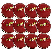 12 Pack x Aero Incrediball Club Cricket Balls Red Youth