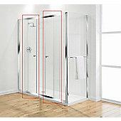Coram Showers Optima Double Sliding Door - Door Pack - White - Plain - 150cm