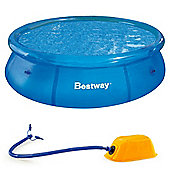 "Bestway 8ft x 26"" Fast Set Pool With Bestway AirStep Foot Pump"