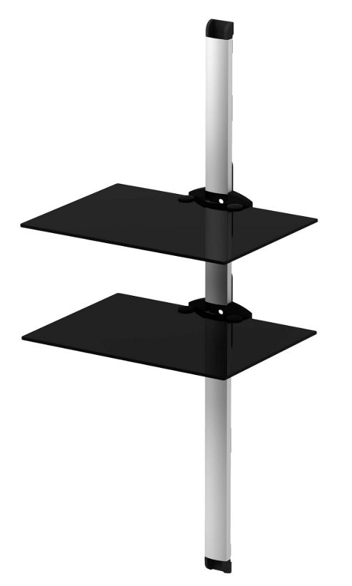 Sonorous PL 2620 BSLV Twin Shelf System