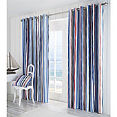 Fusion Whitby Eyelet Lined Curtains Blue 66x90
