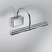 Linea Light Flue Two Light Wall Light - 10cm H x 26cm W x 14cm D / Chrome