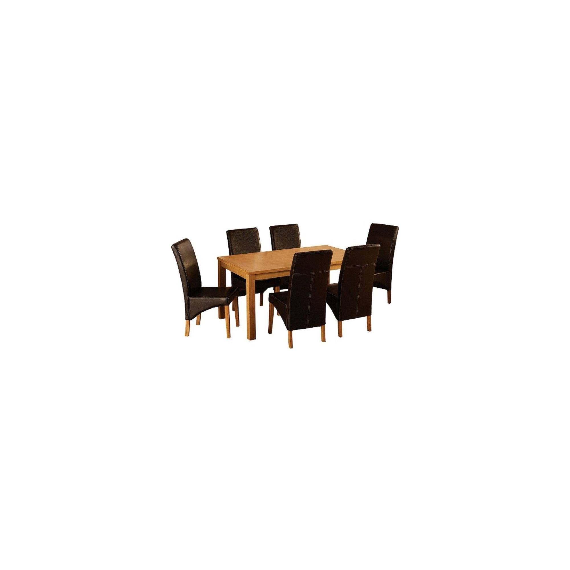 Home Essence Belgravia 7 Piece Dining Set - Espresso Brown at Tesco Direct