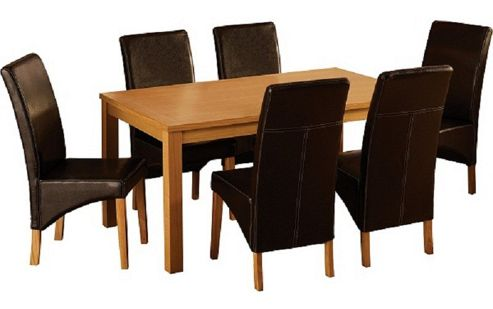 Home Essence Belgravia 7 Piece Dining Set - Espresso Brown