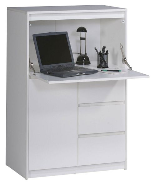Aspenhome Warm Cherry Executive Modular Home Office: Buy Maja Aspen White Computer Hideaway From Our Office