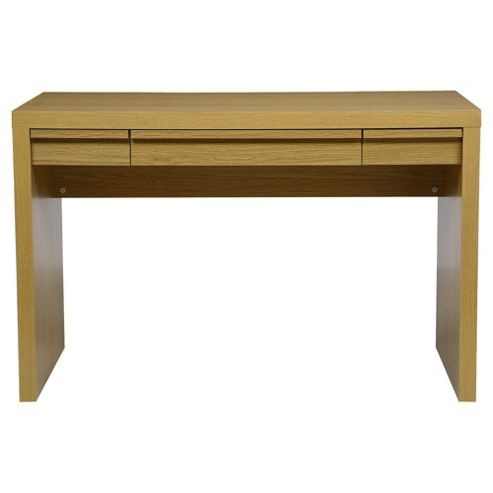 Buy tribeca desk oak effect from our office desks tables range tesco - Tesco office desk ...