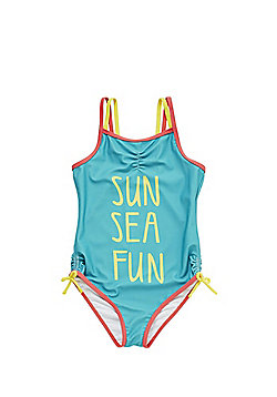 F&F Contrast Trim Swimsuit - Green