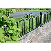 Ironbridge Metal Rail Fence Panel, 48x181cm