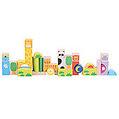 Bigjigs Toys BB081 Wooden Safari Animal Building Blocks