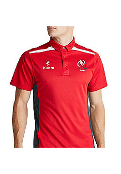 Kukri Ulster Rugby 16 Performance Athletic Fit Polo - Red - Red