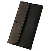 Tortoise™ Genuine Leather Side Opening Case Universal Medium Black