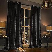 Iliana Eyelet Curtains - Black