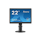 Iiyama ProLite B2280WSD (22 inch) LED Backlit LCD Monitor 1000:1 250cd/m2 (1680x1050) 5ms VGA/DVI (Black)