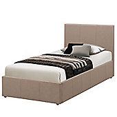 Berlin Fabric Ottoman Bed - Wheat