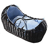 Isabella Alicia Dark Izzy-Pod Moses Basket (Dimple Blue)