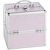 Beautify Small Pink Rose Print Beauty Cosmetics Make Up Case