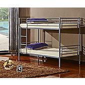 Tampa Metal Bunk Bed 3ft Silver Grey