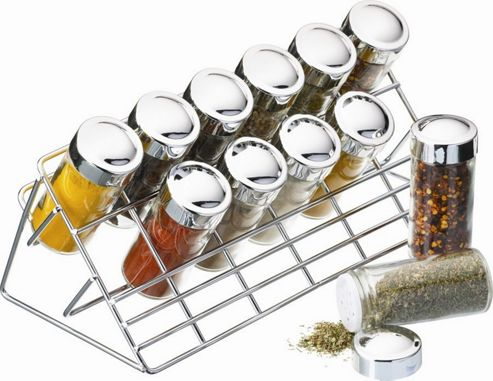 KitchenCraft 31cm x 14cm x 15cm Chrome Plated Spice Rack