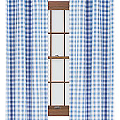 Blue Gingham Curtains 54s