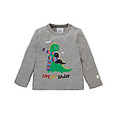Mothercare Baby Newborn Boy's Love You Daddy Dinosaur T-Shirt Size 9-12 months