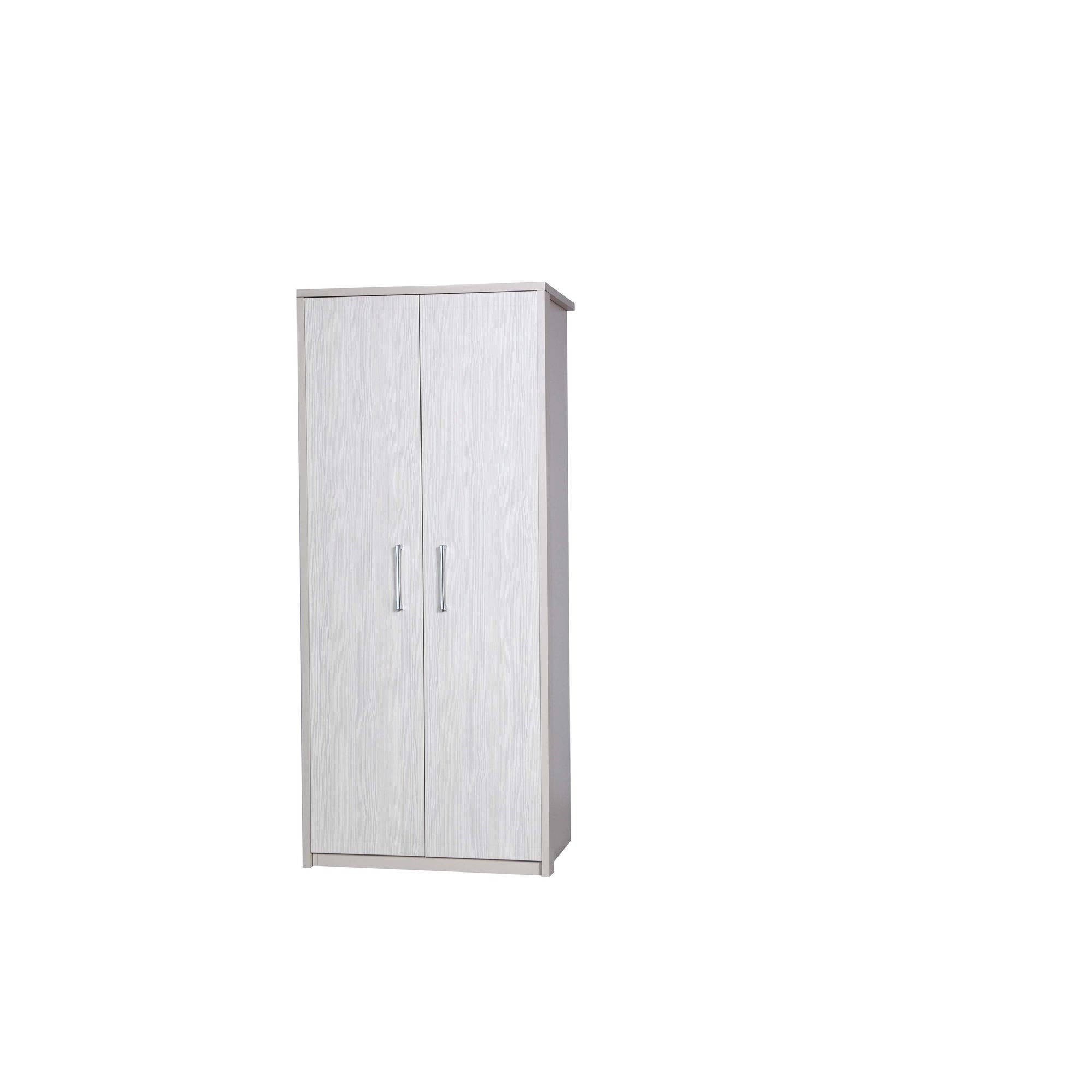 Alto Furniture Avola Double Wardrobe - Cream Carcass With White Avola at Tesco Direct