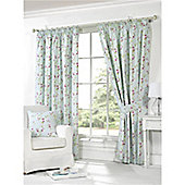 Kira Pencil Pleat Curtains 117 x 137cm - Duck Egg