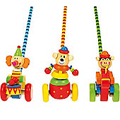 Bigjigs Toys BJ126 Circus Push Along (One Supplied - Designs Vary)