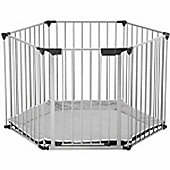 BabyDan BabyDen PlayPen Silver with Grey Mat