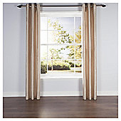 "Faux Silk Lined Eyelet Curtains W112xL137cm (44""x54""), Natural - Natural"